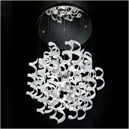 Metal Lux Astro 6 Light White Glass Pendant 206.175.02