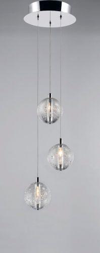 Avivo Bubbles PD1302-3A CH/CL 3 Light Pendant Chrome Clear Glass Ceiling Fitting