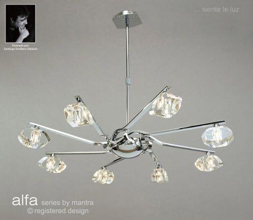 Mantra M0410 Alfa Pendant 8 Light G9 Polished Chrome