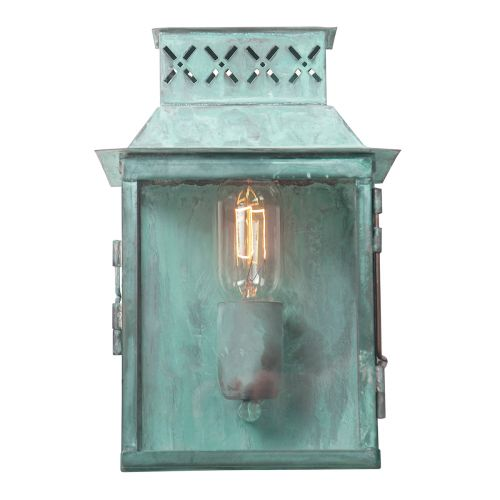 Elstead Lambeth Palace Outdoor Wall Lantern Solid Brass Verdigris