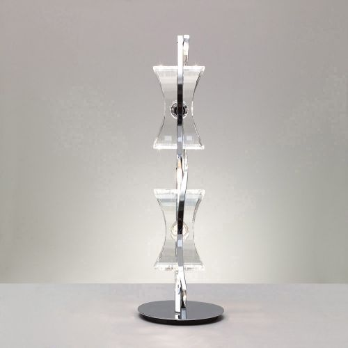 Mantra M0896 Kromo Table Lamp 2 Light G9 Looped Frame Polished Chrome
