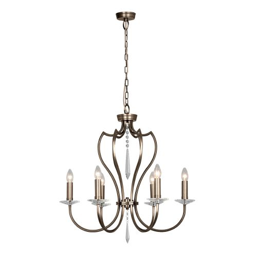 Elstead Pimlico 6 Light Dark Bronze Ceiling Fitting PM6 DB