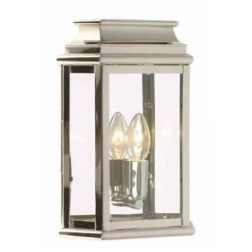 Elstead ST MARTINS-PN 1Lt Solid Brass Polished Nickel Wall Lantern