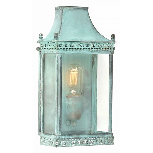 Elstead Solid Brass Outdoor Wall Lantern Regents Park Verdi