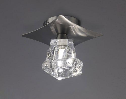 Mantra M3756 Iku Single Ceiling Light Fitting G9 Satin Nickel