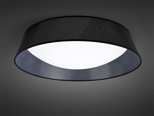 Mantra M4967 Nordica Flush Ceiling Fitting 60W LED 90cm White Acrylic Black Shade