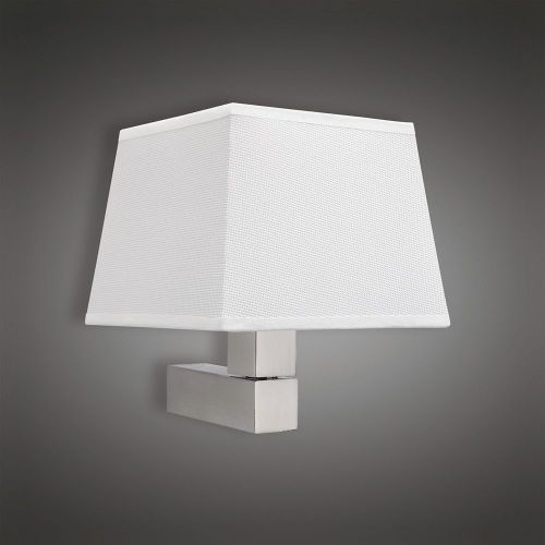 Mantra M5236 Bahia Wall Lamp 1 Light out Shade E27 Satin Nickel