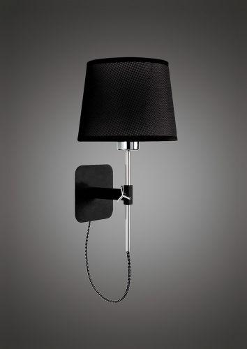 Mantra M5319 Habana Wall Lamp Telescopic Without Shade 1 Light E27 Black Polished Chrome