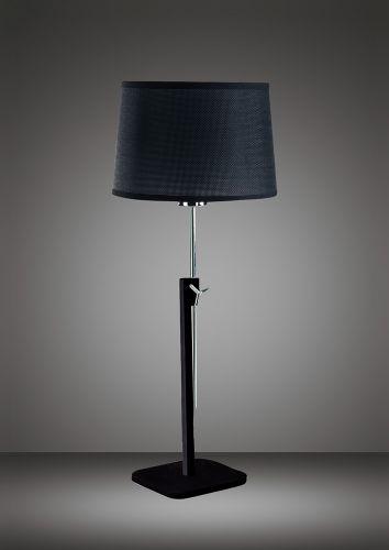 Mantra M5321 Habana Table Lamp Telescopic Without Shade 1 Light E27 Black Polished Chrome
