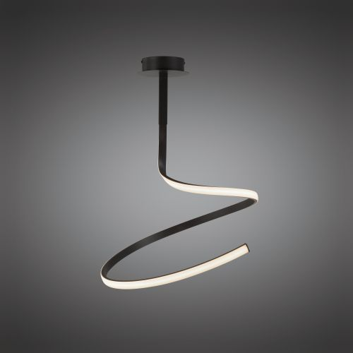 Mantra M5362 Nur Brown Oxide Modern LED Ceiling Fitting 30W Frosted Acrylic Brown Oxide