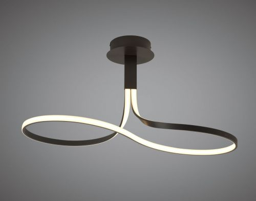Mantra M5826 Nur BR Semi Flush Ceiling 40W LED 2800K 3200lm Dimmable Frosted Acrylic Brown Oxide