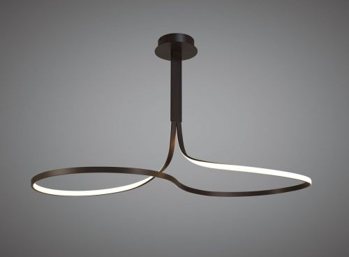 Mantra M5831 Nur BR XL LED Ceiling Fitting 50W 2800K 3900lm Dimmable Frosted Acrylic Brown Oxide