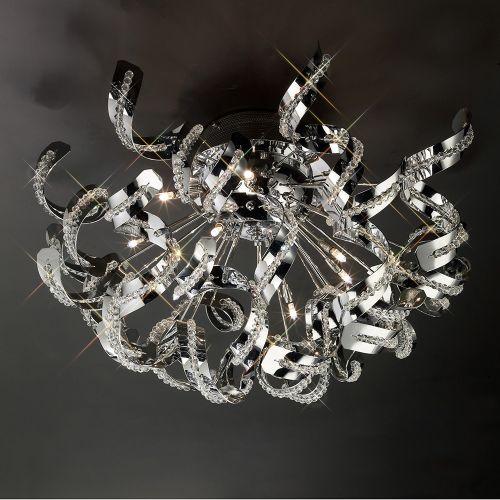 Diyas Esme 20 Light Ceiling  Polished Chrome/Crystal IL30553