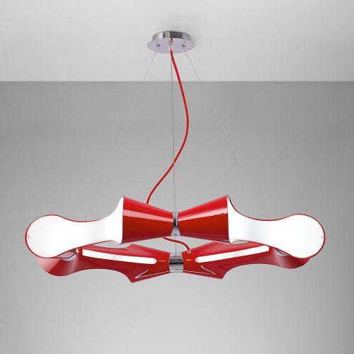 Mantra Ora 8 Light Low Energy Red Ceiling Pendant M1561