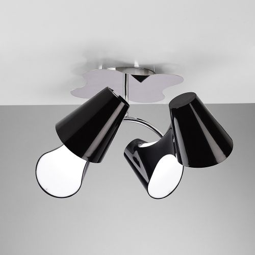 Mantra Ora 4 Light Low Energy Black Semi-Flush Ceiling Fitting M1555