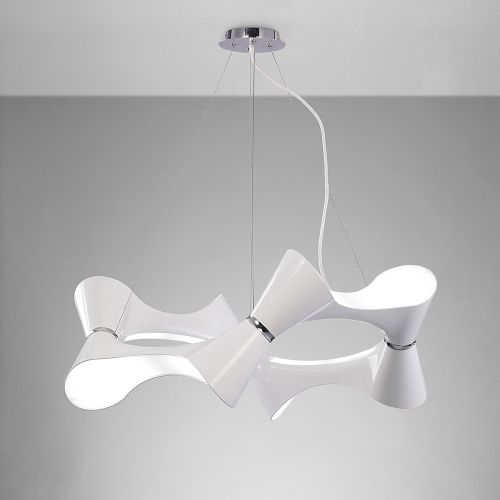 Mantra Ora 8 Light Low Energy White Ceiling Pendant M1542