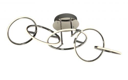 Mantra M5755 Aros 5 Ring 59W LED 3000K Polished Chrome Semi-Flush