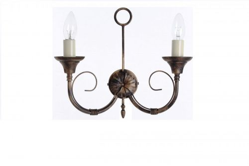 Impex SMRR00112/BLKG Classica 2Lt Black Gold Twin Wall Light