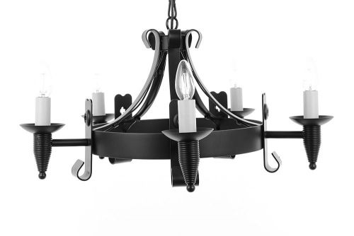 Impex SMRR00155/A Cromwell 5Lt Aged Iron Ceiling Chandelier