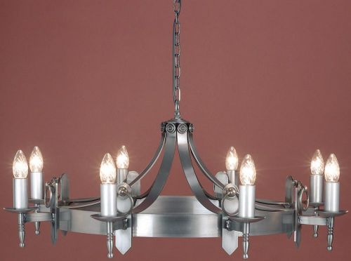 Impex SMRR00168/STR Mitre 8Lt Sterling Ceiling Chandelier