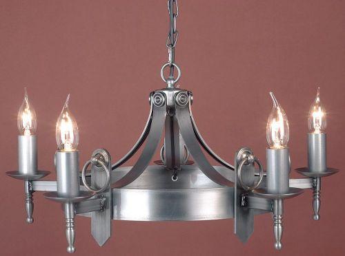 Impex SMRR00165/STR Mitre 5Lt Sterling Ceiling Chandelier