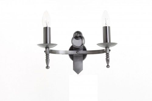 Impex SMRR00162/A Mitre 2Lt Aged Iron Twin Wall Light