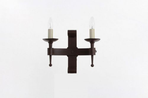 Impex SMRR00002/A Refectory 2Lt Aged Iron Twin Wall Light