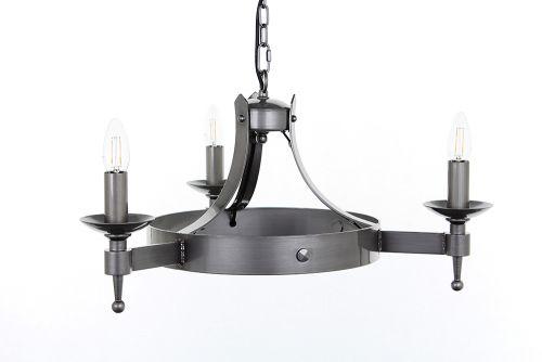 Impex SMRR01073/STR Saxon 3Lt Sterling Ceiling Chandelier