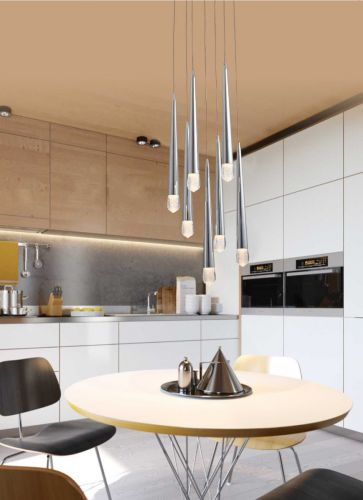 Avivo Droplet PD2309-7A CH 7 Light LED Pendant Chrome Ceiling Fitting