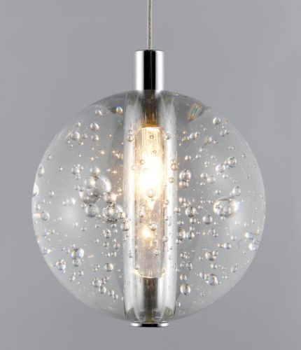 Avivo Bubbles PD1302-1A CH/CL 1 Light Pendant Chrome Clear Glass Ceiling Fitting