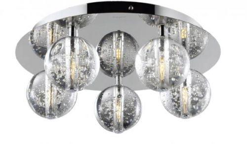 Avivo Bubbles FX1302-5B CH/CL 5 Light Flush Chrome Clear Glass Ceiling Fitting