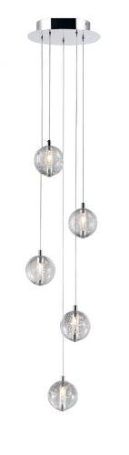 Avivo Bubbles PD1302-5A CH/CL 5 Light Pendant Chrome Clear Glass Ceiling Fitting