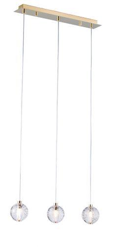 Avivo Bubbles PD1302-3B GP/CL 3 Light Bar Pendant Gold Clear Glass Ceiling Fitting