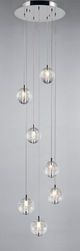 Avivo Bubbles PD1302-7A CH/CL 7 Light Pendant Chrome Clear Glass Ceiling Fitting