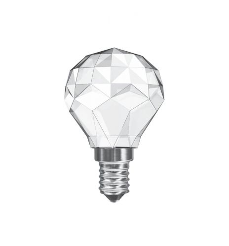Crystal Golf Ball LED Lamp 3W SES / E14 Cap Non-Dimmable Warm White