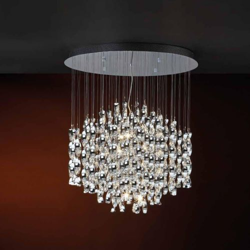 Schuller Espiral 579814G9D Ceiling Pendant 9 Light Polished Chrome