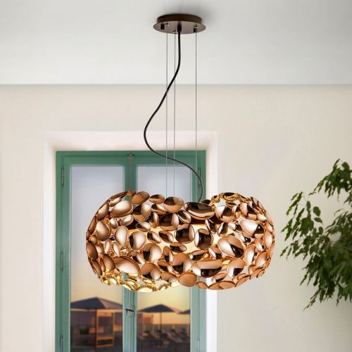 Schuller Narisa 266251N Ceiling Pendant 5 Light Rose Gold