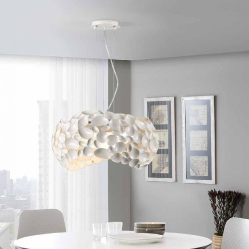 Schuller Narisa 266290 Ceiling Pendant 5 Light Matt White