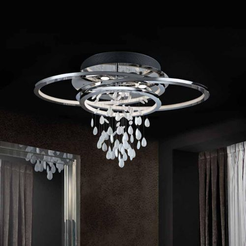 Schuller Bruma 696318 LED Ceiling Flush Light Fitting Chrome