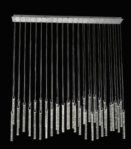 Avivo Cascade PD1609-42B CH 42 Light LED Bar Pendant Polished Chrome Ceiling Fitting