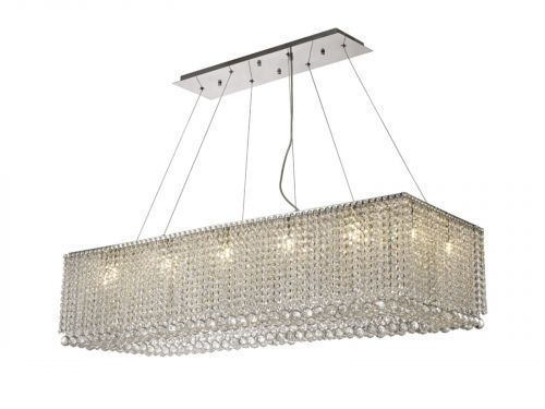 Diyas IL31733 Empire Crystal 14 Light Bar Pendant Polished Chrome Frame