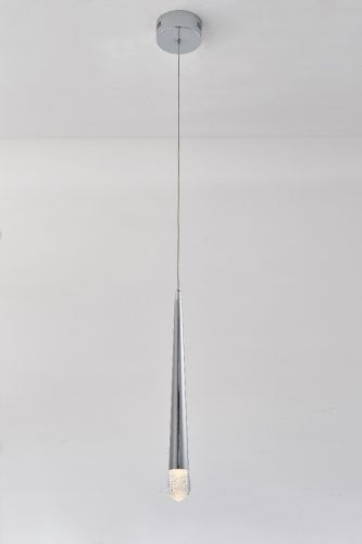 Avivo Droplet PD2309-1A CH 1 Light LED Pendant Chrome Ceiling Fitting