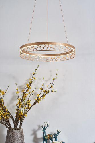 Avivo Mosaic PD18022-60-1A MG 1 Light LED Pendant Matte Gold Ceiling Fitting
