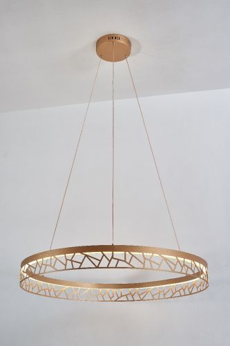 Avivo Mosaic PD18022-80-1A MG 1 Light LED Pendant Matte Gold Ceiling Fitting