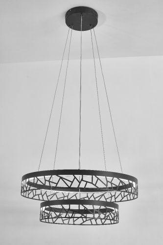 Avivo Mosaic PD18022-60-2A MW 2 Light LED Pendant Matte White Ceiling Fitting