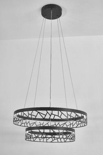 Avivo Mosaic PD18022-60-2A MG 2 Light LED Pendant Matte Gold Ceiling Fitting