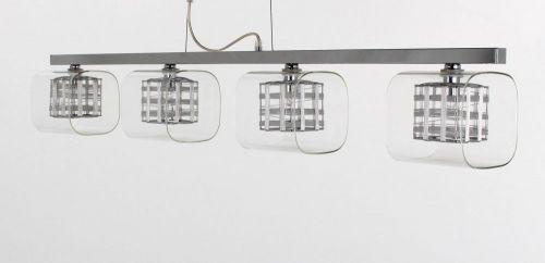 Impex Avignon PGH01515/04/BAR/CH 4 Light Ceiling Pendant Chrome Fitting