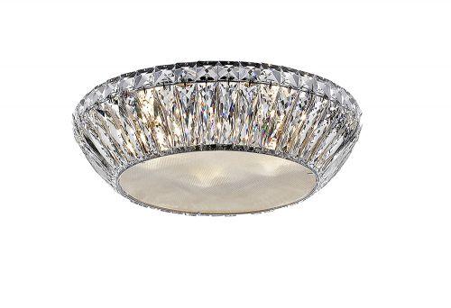 Impex Armel LED1705/05/PL/CH 5 Light LED Flush Chrome Ceiling Fitting