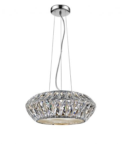 Impex Armel LED1705/04/CH 4 Light LED Pendant Chrome Ceiling Fitting