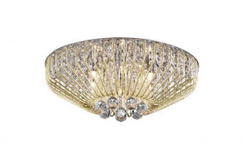 Impex Carlo CFH508052/06/PL/G 6 Light Flush Gold Ceiling Fitting